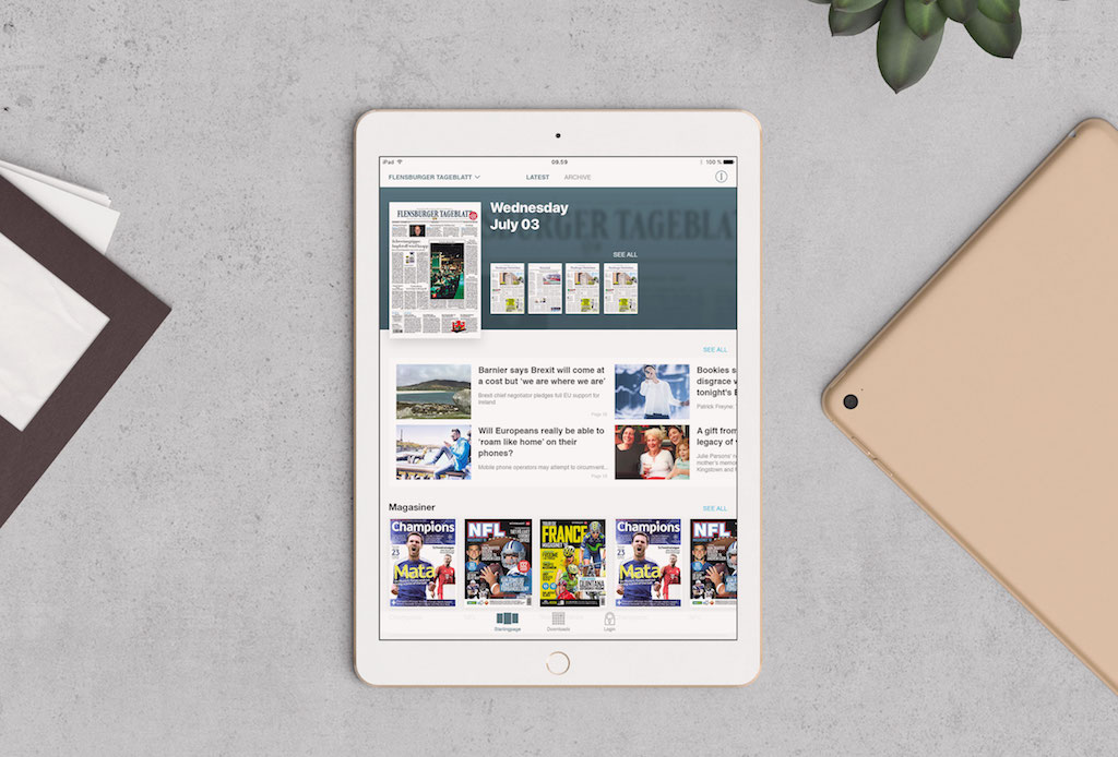iOS News Modules - publishing app for ePapers and eMagazines
