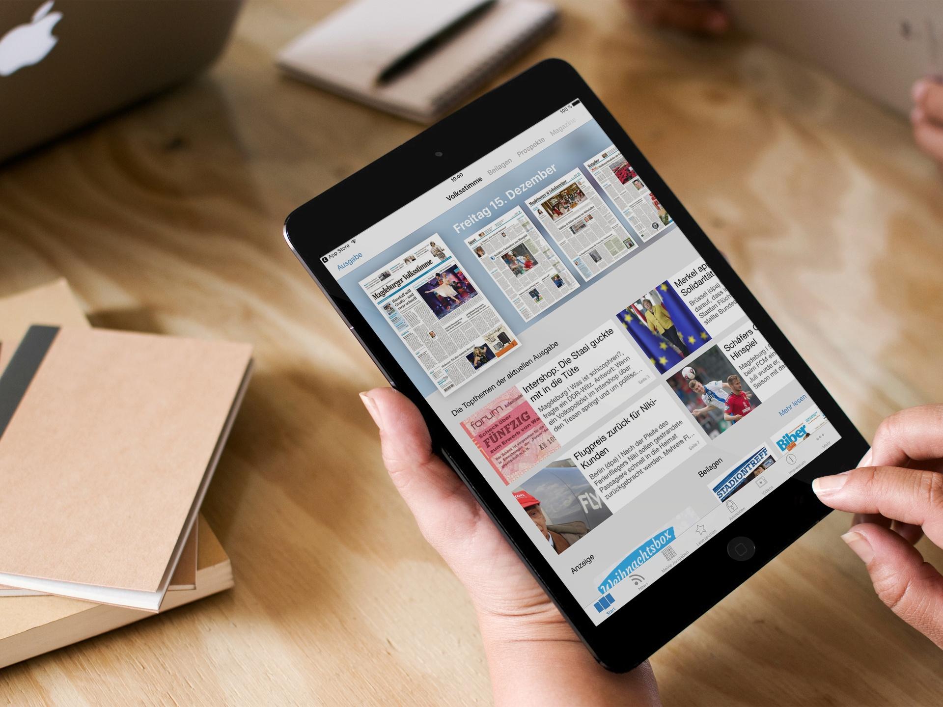 Volksstimme auf neuer iOS-App: Die Leser dürfen sich freuen!